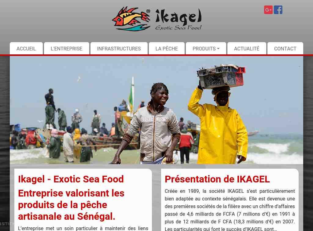 Ikagel : produit de la mer